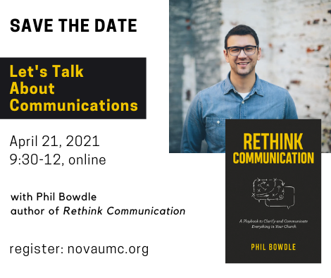 book cover for rethink communication and phil bowdle photo